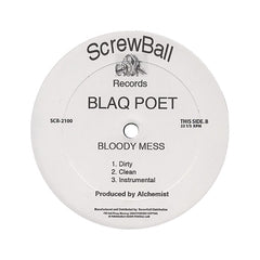 "Blaq Poet - 'Watch Your Back/ Bloody Mess' [(Black) 12"" Vinyl Single]"
