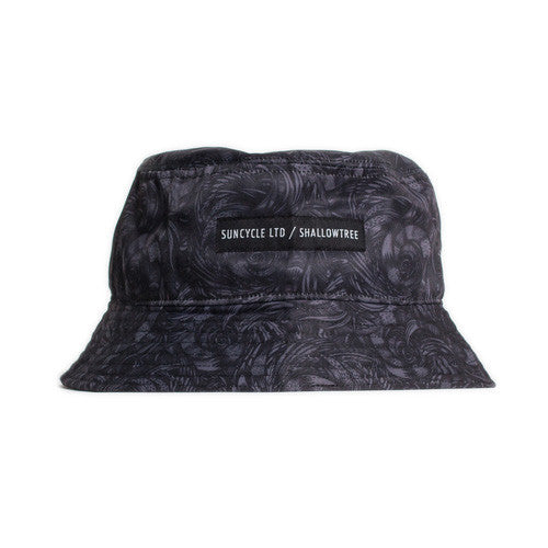 <!--2014081347-->Sun Cycle Limited x Shallowtree - 'Stealth Camo' [(Dark Gray) Bucket Hat]