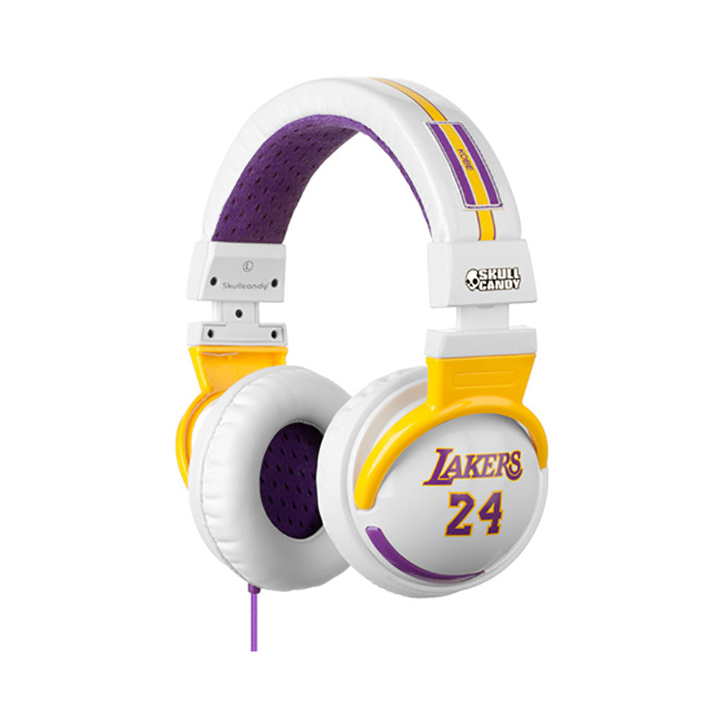 <!--020110419029449-->Skullcandy: Player Series x NBA: Los Angeles Lakers - 'Kobe Bryant White Hesh w/ Mic' [(Lakers) Headphones]