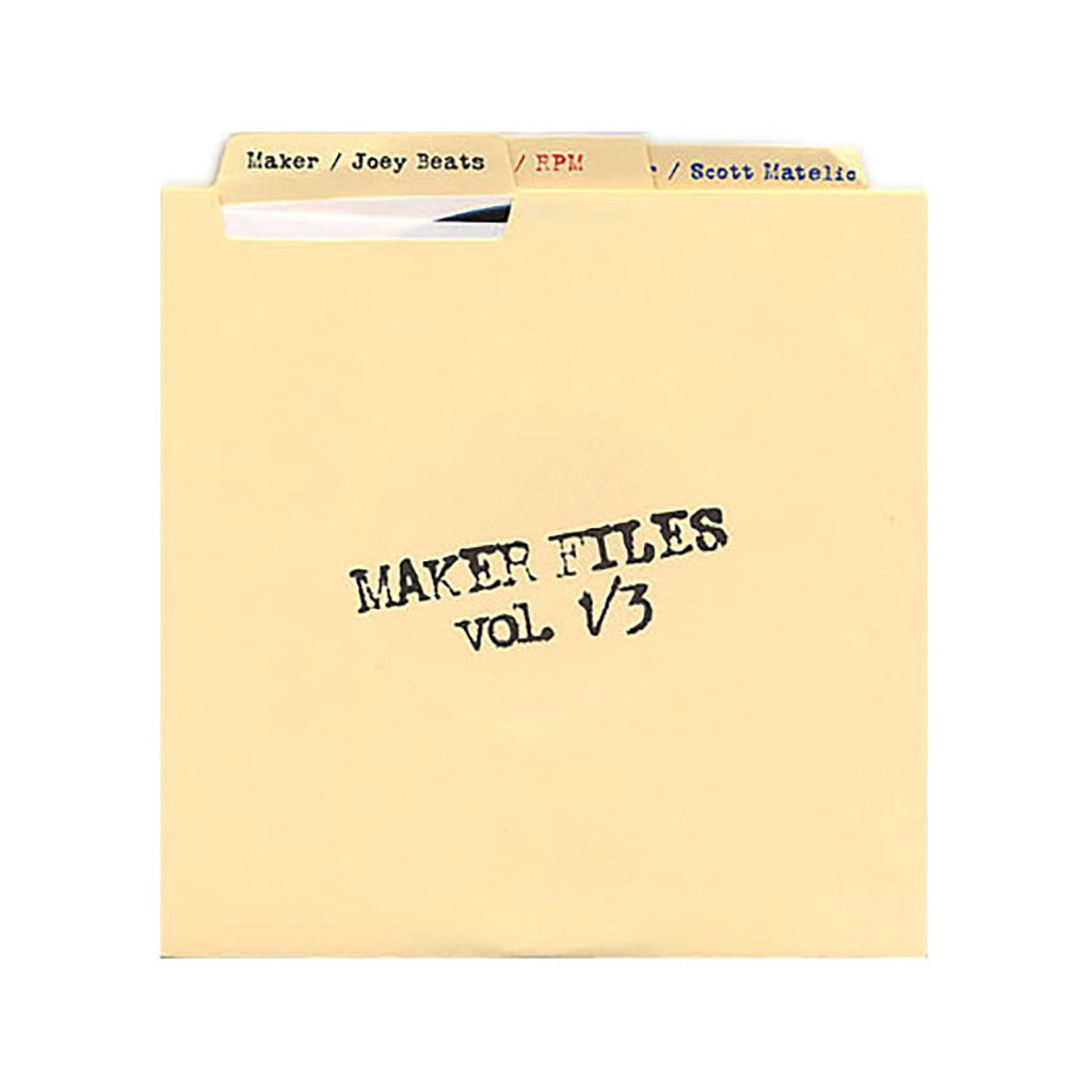 "Maker - 'Maker Files Vol. 1-3' [(Black) 7"" Vinyl Single [3x7""]]"