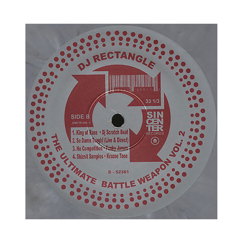 <!--019000101020400-->DJ Rectangle - 'The Ultimate Battle Weapon Vol. 2 (Official Release)' [(Silver Marble) Vinyl LP]
