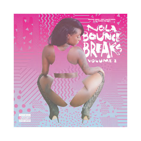 "[""Quickie Mart, Tony Skratchere & DJ Yamin - 'NOLA Bounce Breaks Vol. 2' [(Black) Vinyl LP]""]"