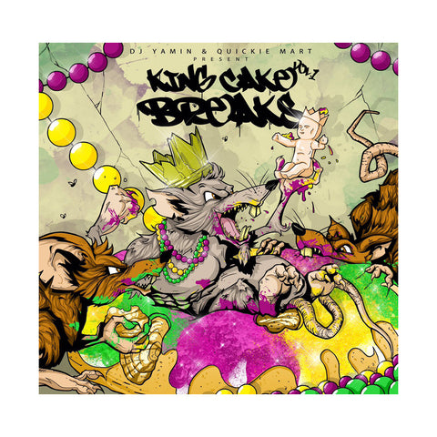 DJ Yamin & Quickie Mart - 'King Cake Breaks Vol. 1' [(Black) Vinyl LP]