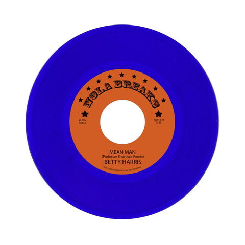 "[""Professor Shorthair/ The Allergies - 'NOLA Bounce Breaks Vol. 5 - Betty Harris b/w Robert Parker' [(Blue) 7\"" Vinyl Single]""]"