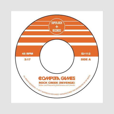 "[""Computa Games - 'Rock Creek (Revenge)/ Apache 3000' [(Black) 7\"" Vinyl Single]""]"
