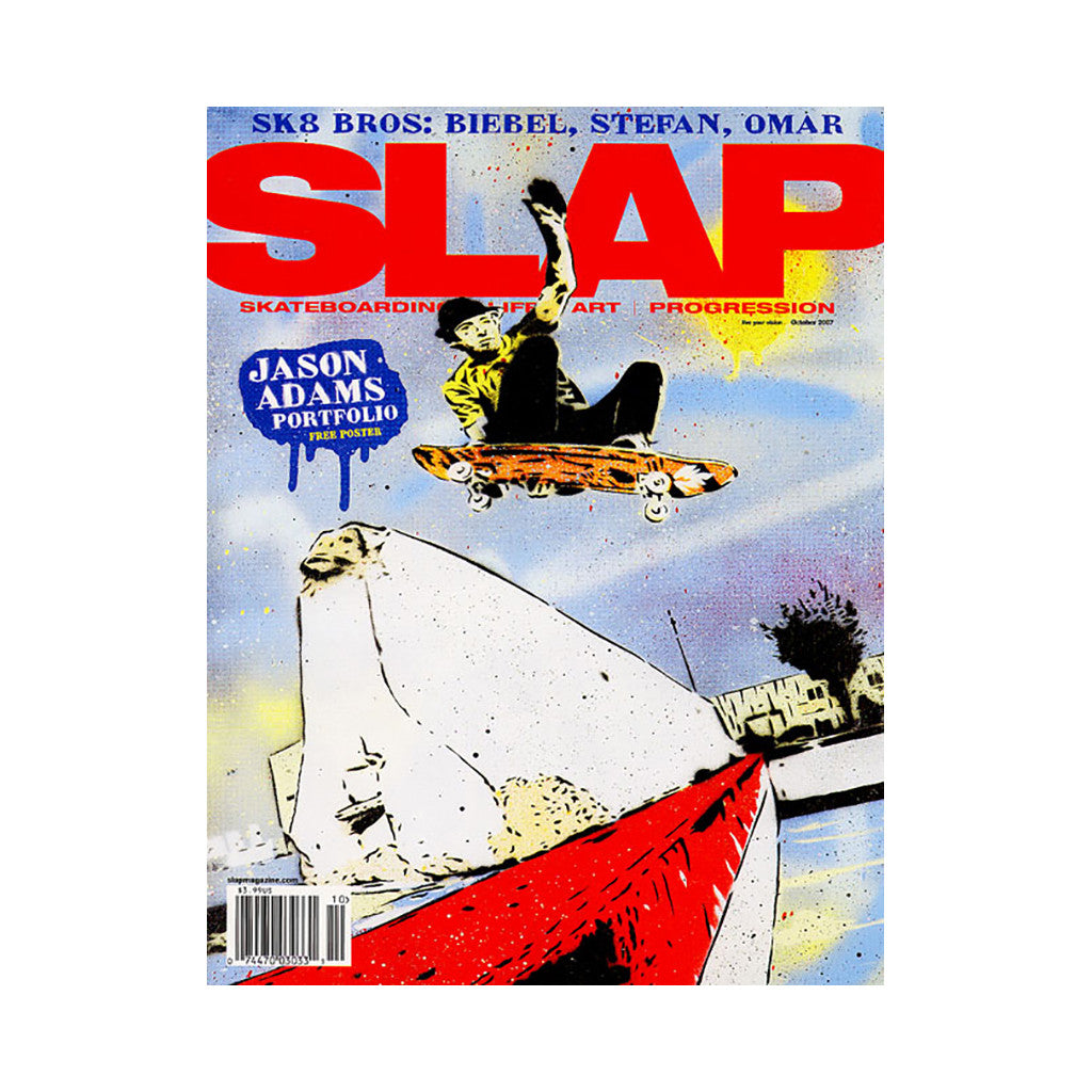 <!--020071002010648-->SLAP (Skateboarding, Life, Art, Progression) - 'Issue 185, October 2007' [Magazine]