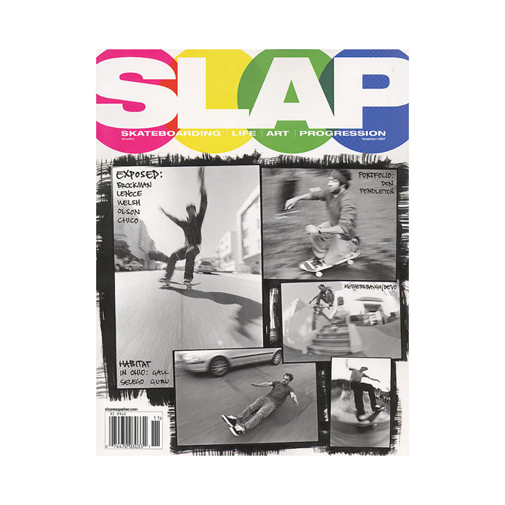 <!--020071009010837-->SLAP (Skateboarding, Life, Art, Progression) - 'Issue 186, November 2007' [Magazine]