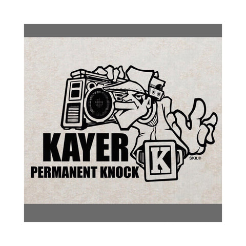"[""Kayer - 'Permanent Knock' [(Clear Blue) Vinyl LP]""]"