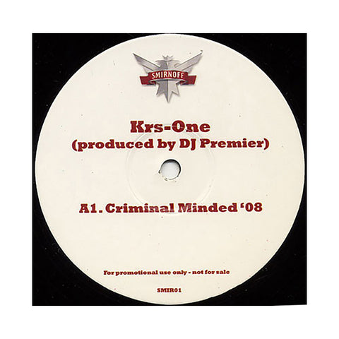 "KRS-One b/w Common b/w Q-Tip - 'Criminal Minded '08 b/w The Light '08 b/w Midnight '08' [(Black) 12"""" Vinyl Single]"