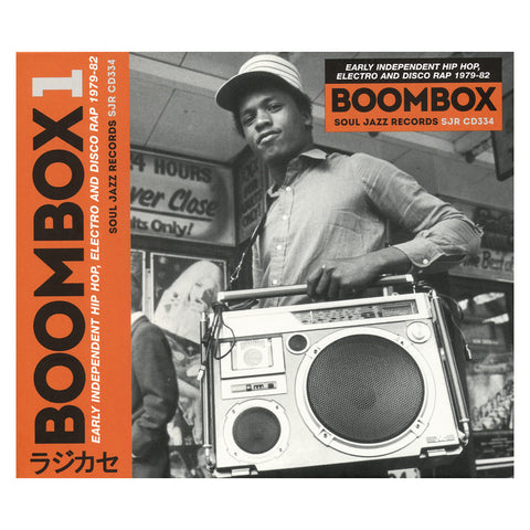 "[""Various Artists - 'BOOMBOX: Early Independent Hip Hop, Electro & Disco Rap 1979-82' [CD [2CD]]""]"
