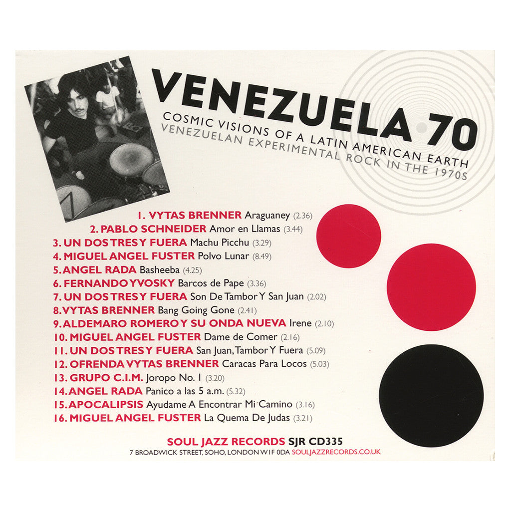 Various Artists - 'VENEZUELA 70: Cosmic Visions Of A Latin American Earth - Venezuelan Experimental Rock In The 1970s' [CD]