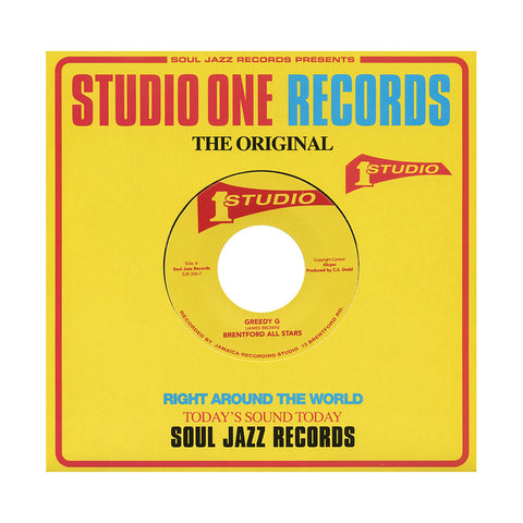 "[""Brentford All Stars b/w IM & Sound Dimension - 'Greedy G b/w Love Jah' [(Black) 7\"" Vinyl Single]""]"