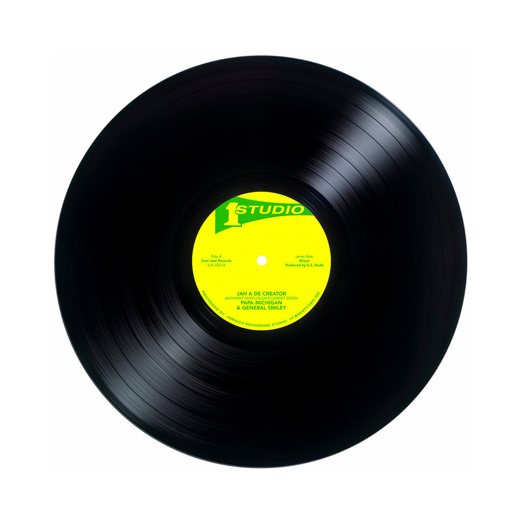 "Papa Michigan & General Smiley b/w Brentford Disco Set - 'Jah A De Creator b/w Rebel Disco' [(Black) 12"" Vinyl Single]"