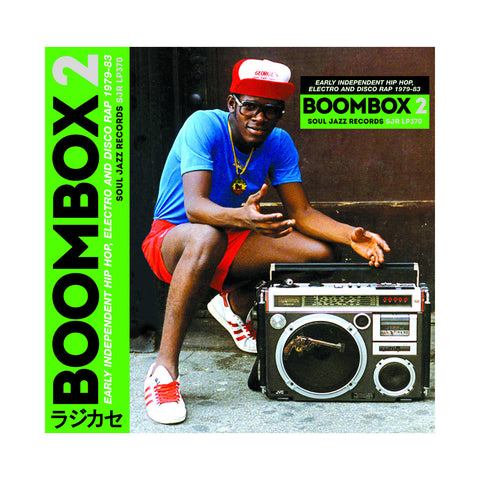 "[""Various Artists - 'BOOMBOX 2: Early Independent Hip Hop, Electro & Disco Rap 1979-83' [(Black) Vinyl [3LP]]""]"