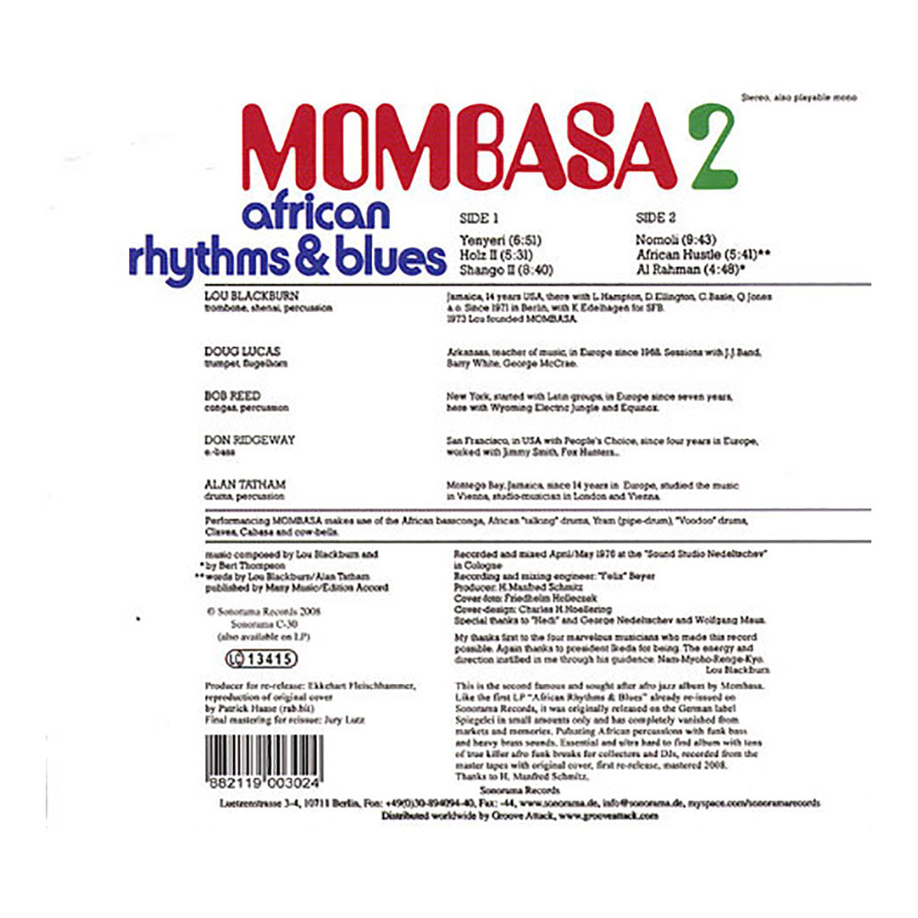 Mombasa - 'African Rhythms & Blues 2' [CD]