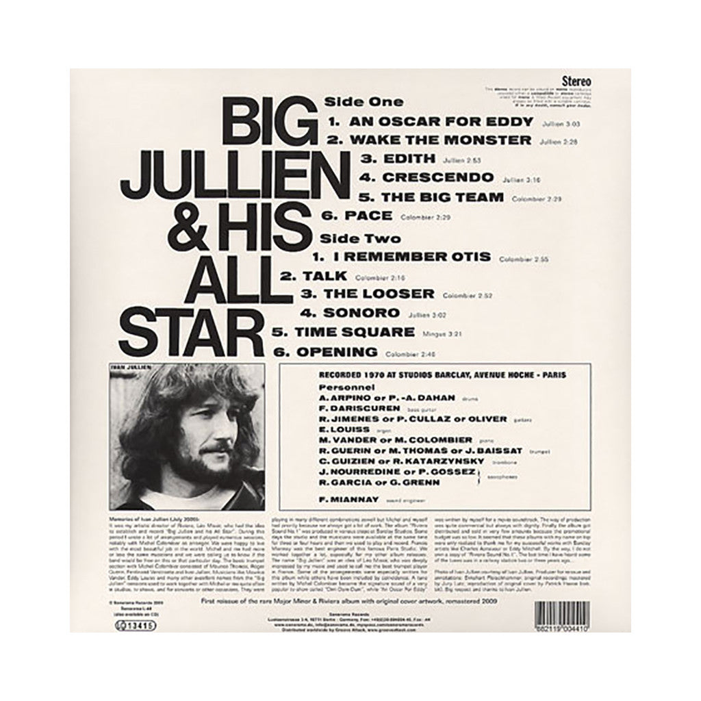 Big Jullien & His All Star - 'Riviera Sound No. 1' [(Black) Vinyl LP]