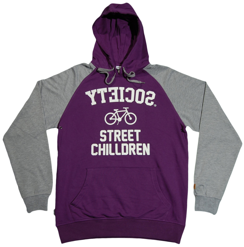 <!--2011110133-->Society Original Products - 'Street Children' [(Purple) Hooded Sweatshirt]