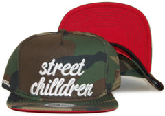 <!--020120306042645-->Society Original Products - 'Street Children - Woodland' [(Camo Pattern) Snap Back Hat]