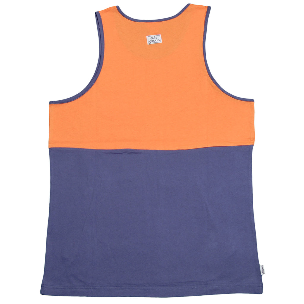 <!--2012050820-->Society Original Products - 'Wig Splitter - Orange/ Blue' [(Orange) Tank Top]