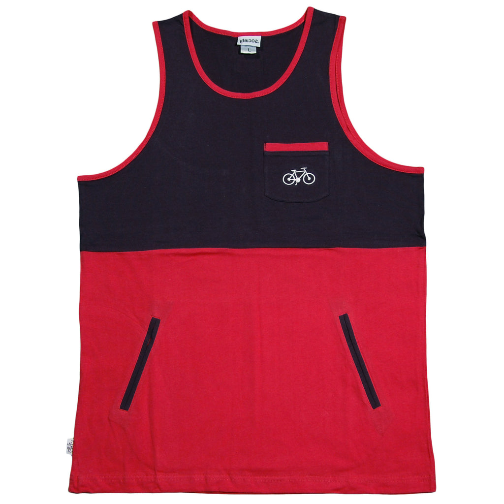 Society Original Products - 'Wig Splitter - Red/ Navy' [(Red) Tank Top]