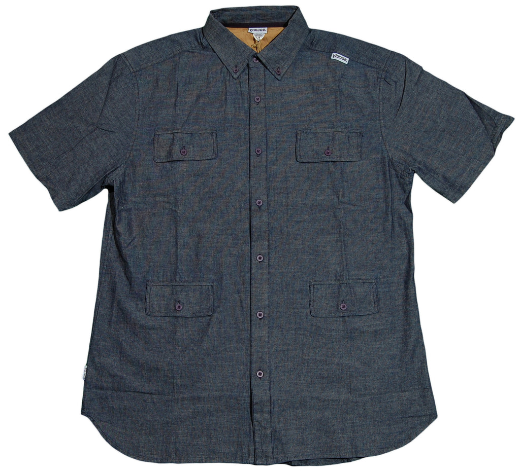 Society Original Products - 'Wednesday' [(Dark Blue) Button Down Shirt]