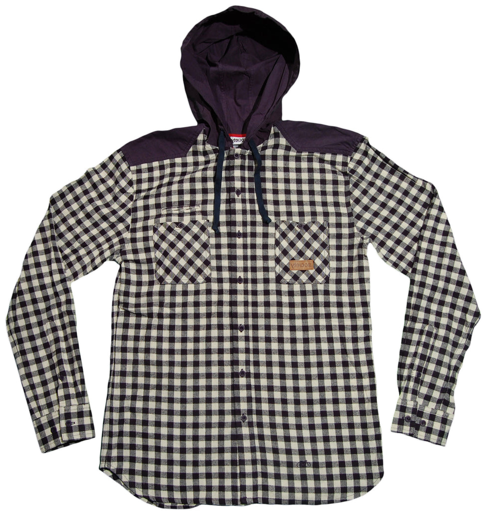 <!--2013012203-->Society Original Products - 'Not Enough - Hooded' [(Dark Blue) Button Down Shirt]