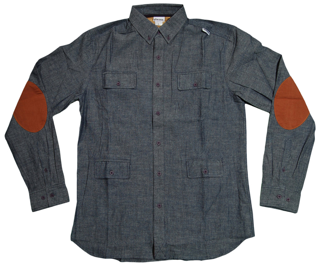 <!--2013012246-->Society Original Products - 'Wednesday - Chambray' [(Dark Blue) Button Down Shirt]