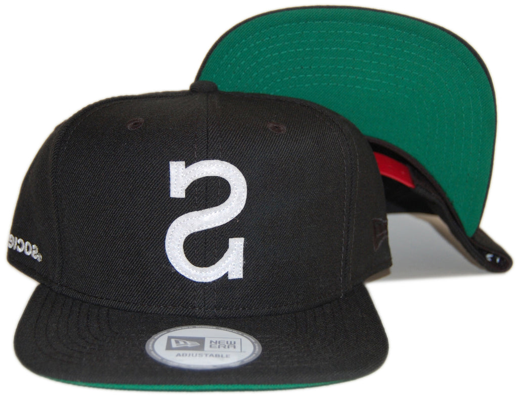 <!--020130122053423-->Society Original Products - 'Big S' [(Black) Snap Back Hat]