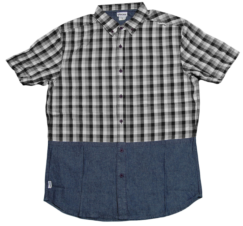 <!--2013031958-->Society Original Products - 'Dipshit' [(Gray) Button Down Shirt]