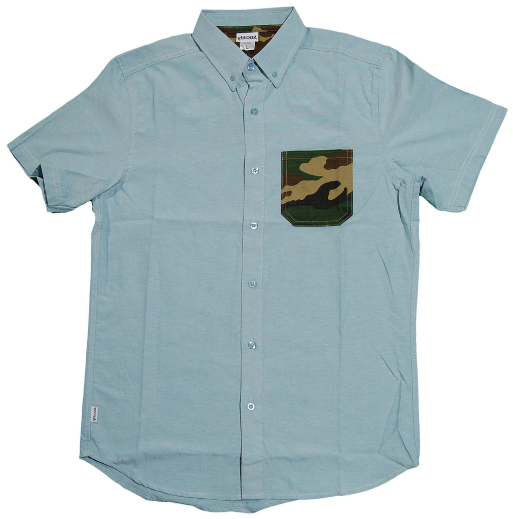 <!--2013061810-->Society Original Products - 'William - Camo Pocket' [(Light Blue) Button Down Shirt]