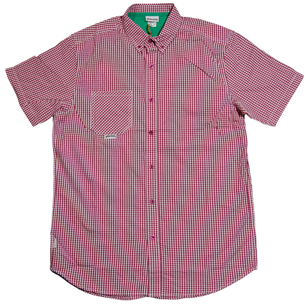 <!--2013061829-->Society Original Products - 'Always Hungry' [(Purple) Button Down Shirt]