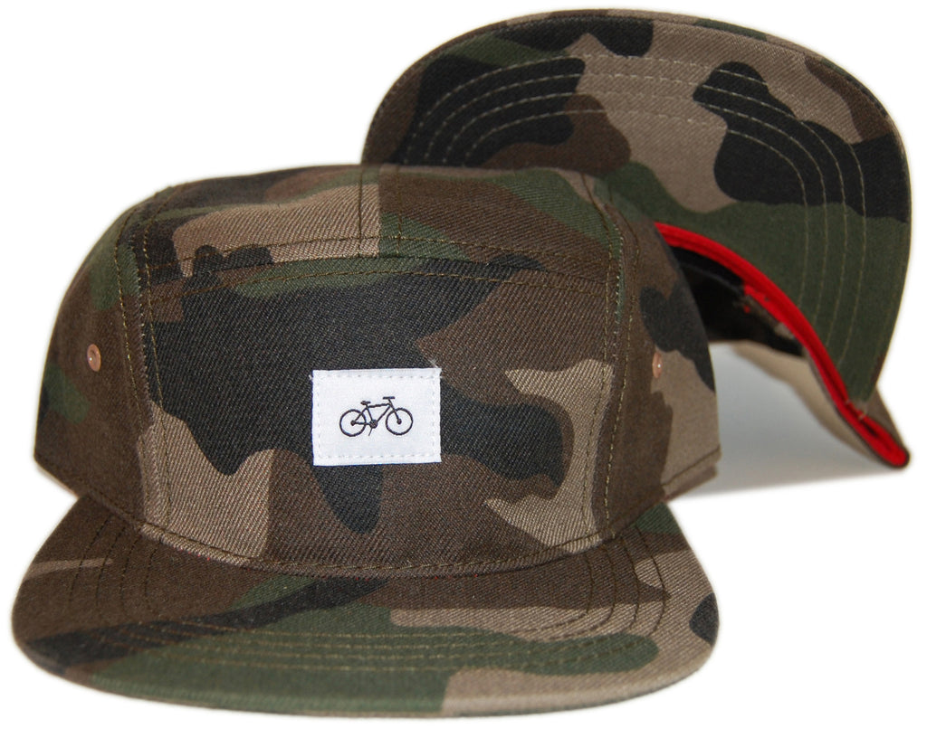 <!--020130521056667-->Society Original Products - 'Snow Town' [(Camo Pattern) Five Panel Camper Hat]