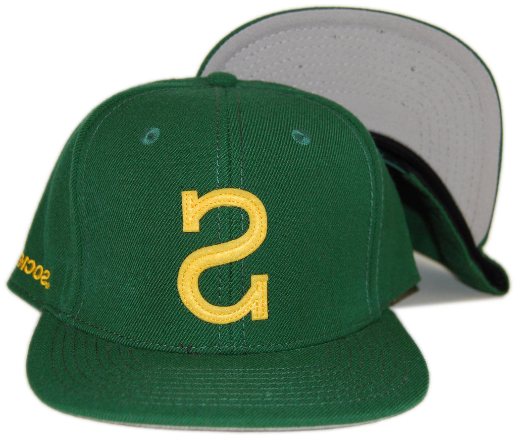 <!--020130618057516-->Society Original Products - 'Big S' [(Dark Green) Snap Back Hat]