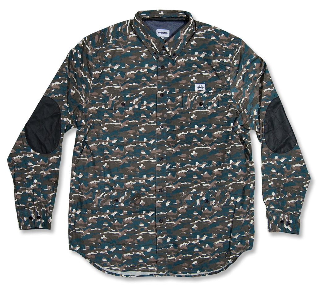 <!--2013111924-->Society Original Products - 'Hide Park Woven - Tigerwood Camo' [(Camo Pattern) Button Down Shirt]