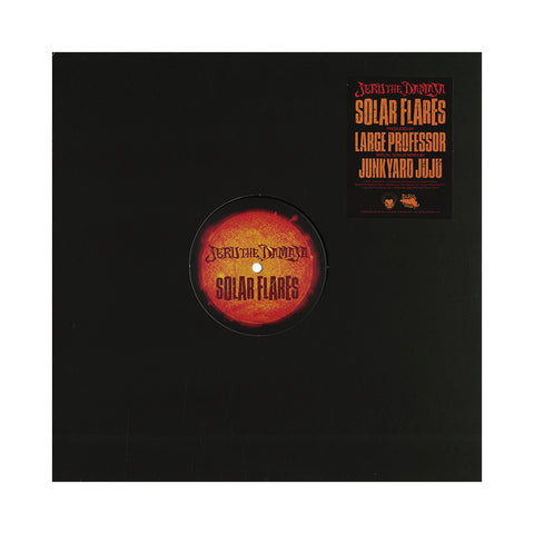 "Jeru The Damaja - 'Solar Flares (Junkyard JuJu Remix)/ Solar Flares' [(Black) 12"" Vinyl Single]"