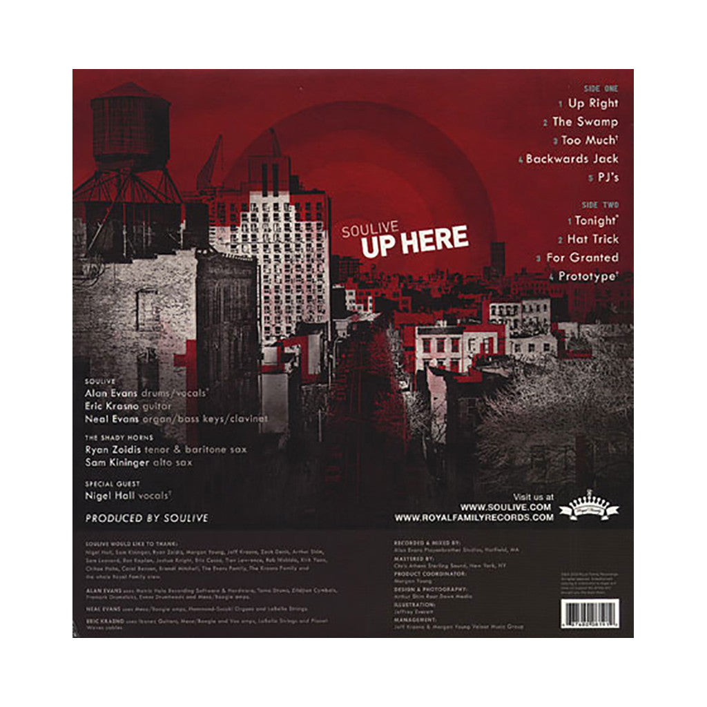<!--020090804017829-->Soulive - 'Up Here' [(Black) Vinyl LP]