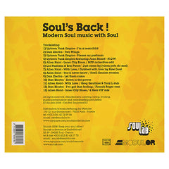 Various Artists - 'Soul's Back! Modern Music With Soul' [CD]