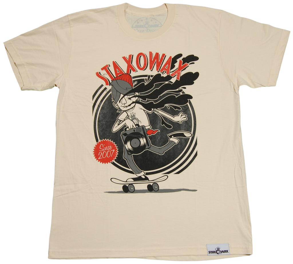 <!--2011091320-->Staxowax - 'Wax Junkie' [(Natural) T-Shirt]