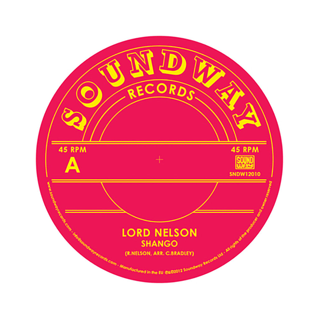 "<!--020120814047020-->Lord Nelson - 'Shango/ Shango (Remix)' [(Black) 12"" Vinyl Single]"