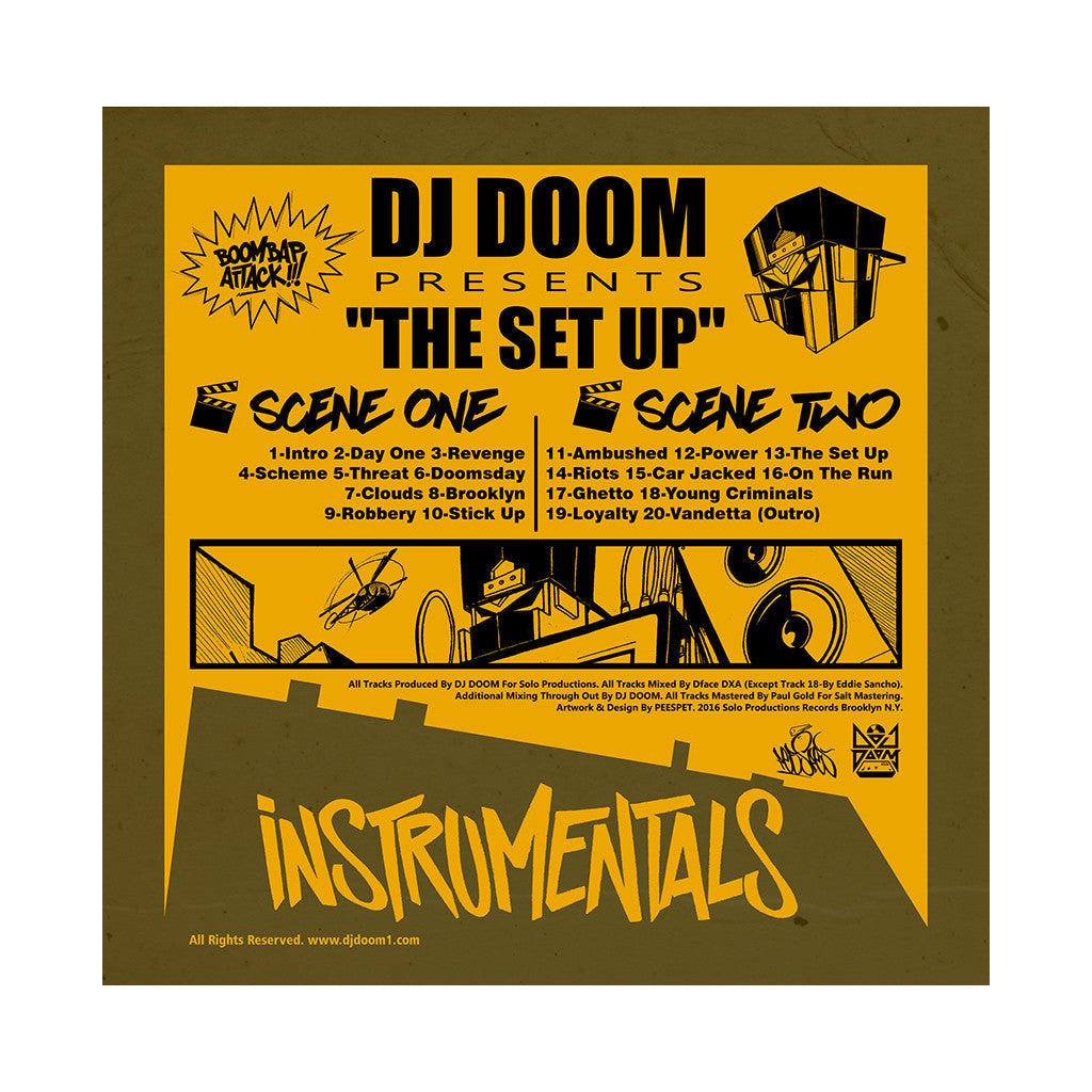 DJ Doom - 'The Set Up' [(Black) Vinyl LP]