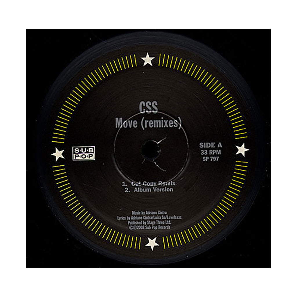 "<!--020081118014974-->CSS - 'Move/ Move (Remixes)' [(Black) 12"" Vinyl Single]"