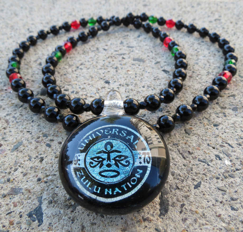 <!--020141004066066-->Straight Path Jewlz x Universal Zulu Nation - 'Wisdom Face' [(Black) Necklace]