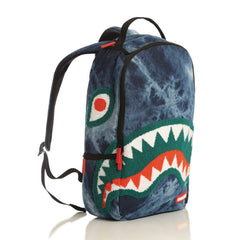 <!--020140313062697-->Sprayground - 'Chenille Shark Acid Denim' [(Dark Blue) Backpack]