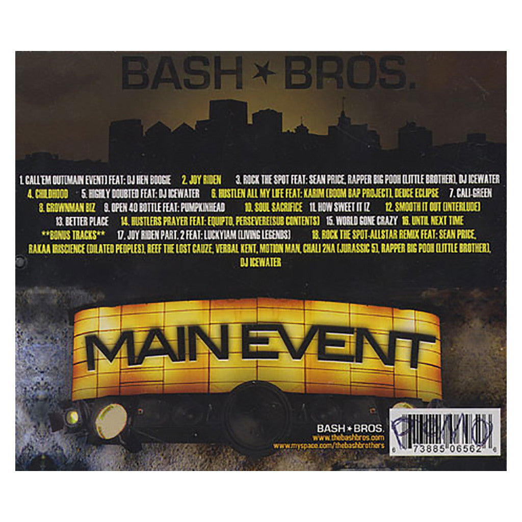<!--020080729014560-->Bash Bros. - 'Main Event' [CD]