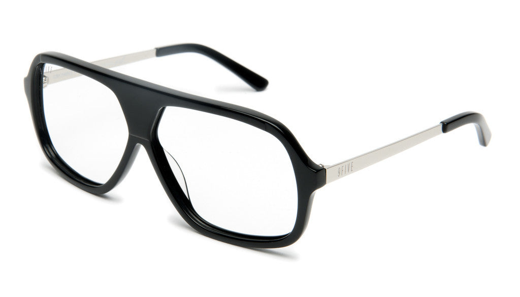 <!--020120612046082-->9five Eyewear x Stevie Williams - 'Crowns: Black/ Platinum (CLEAR LENS)' [(Black) Sunglasses & Eyewear]