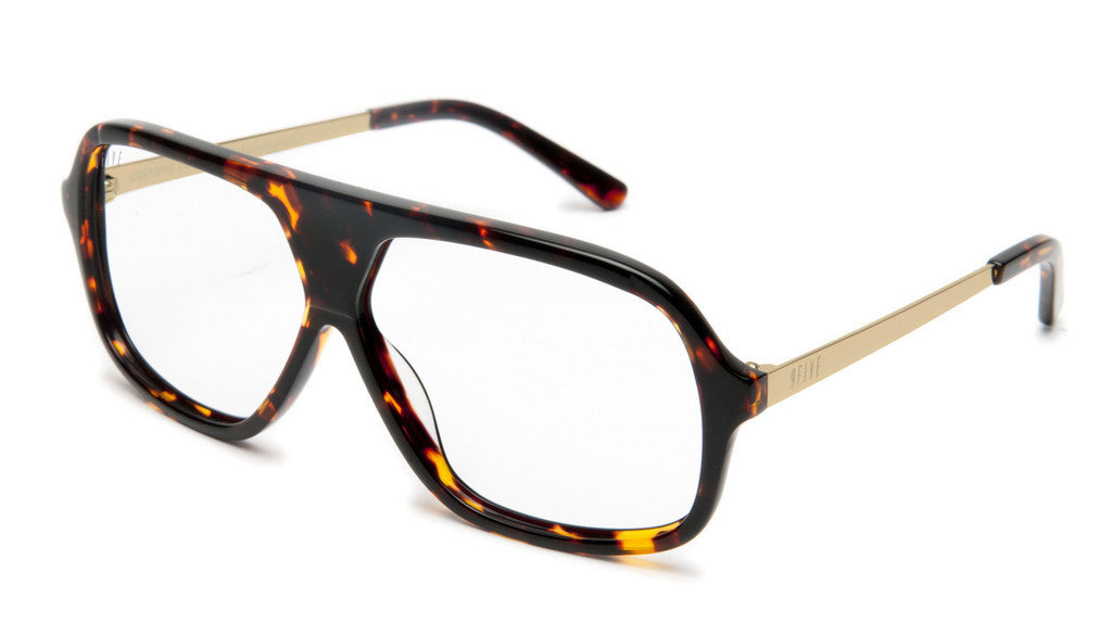 <!--020120612046081-->9five Eyewear x Stevie Williams - 'Crowns: Tortoise (CLEAR LENS)' [(Brown) Sunglasses & Eyewear]