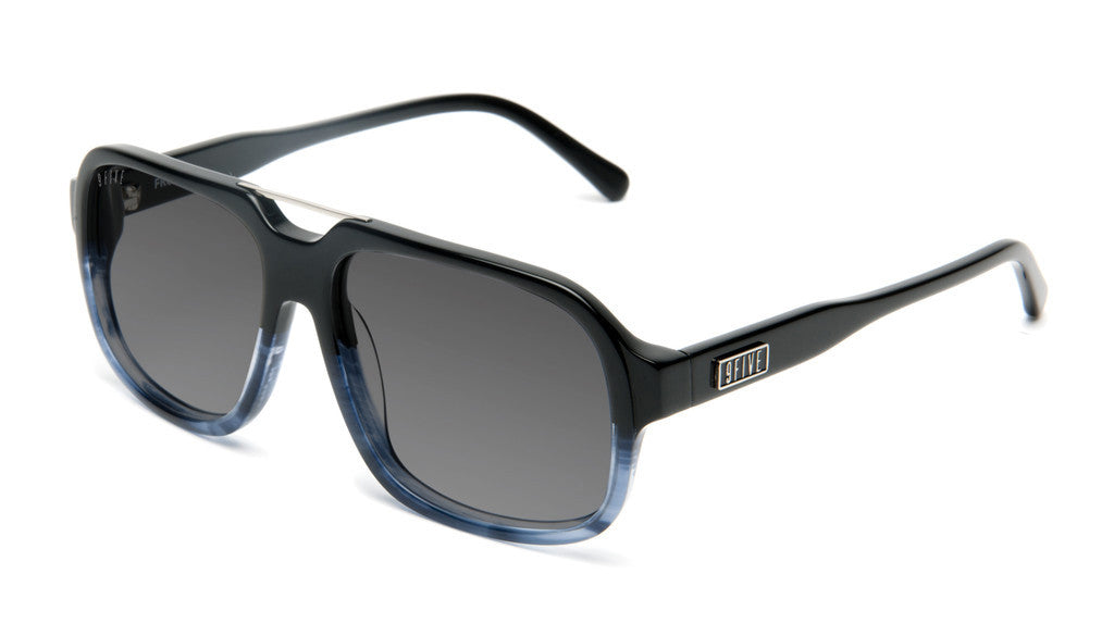 <!--020120612046124-->9five Eyewear - 'Fronts: Black Fade To Blue Wood' [(Black) Sunglasses & Eyewear]