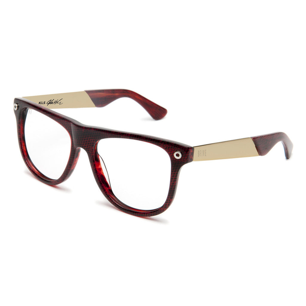 <!--2012071043-->9five Eyewear x Josh Kalis - 'KLS II: Red Snake (CLEAR LENS)' [(Dark Red) Sunglasses & Eyewear]