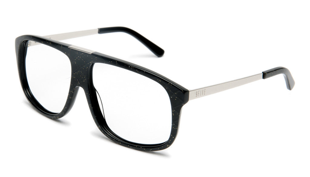 <!--020120612046113-->9five Eyewear - 'Marauders: Black Snake (CLEAR LENS)' [(Black) Sunglasses & Eyewear]