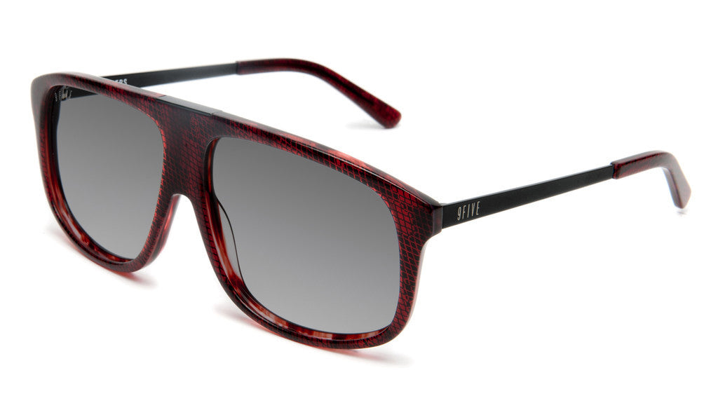 <!--020120612046109-->9five Eyewear - 'Marauders: Red Snake' [(Dark Red) Sunglasses & Eyewear]